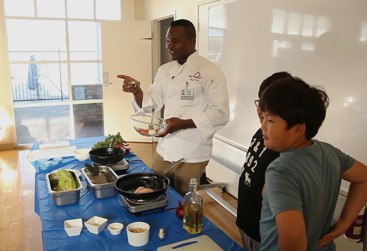 Cooking class at UCLA University Village