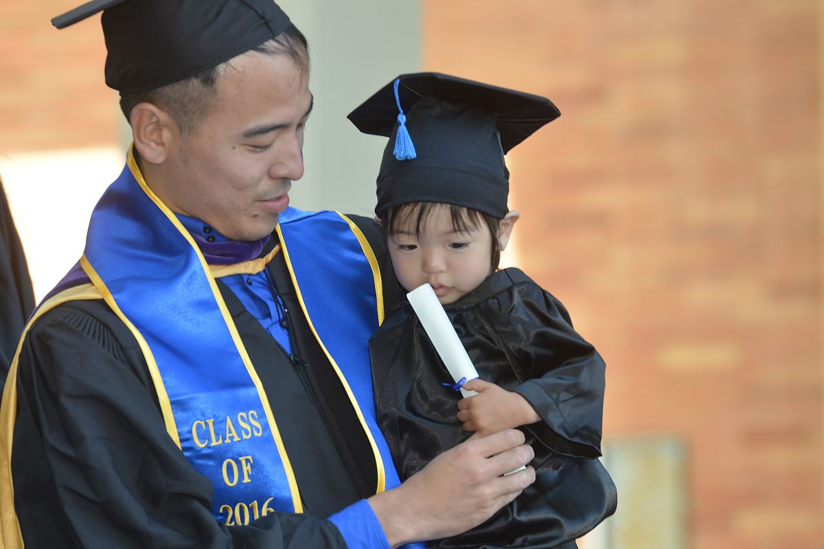 UCLA law school graduate and child