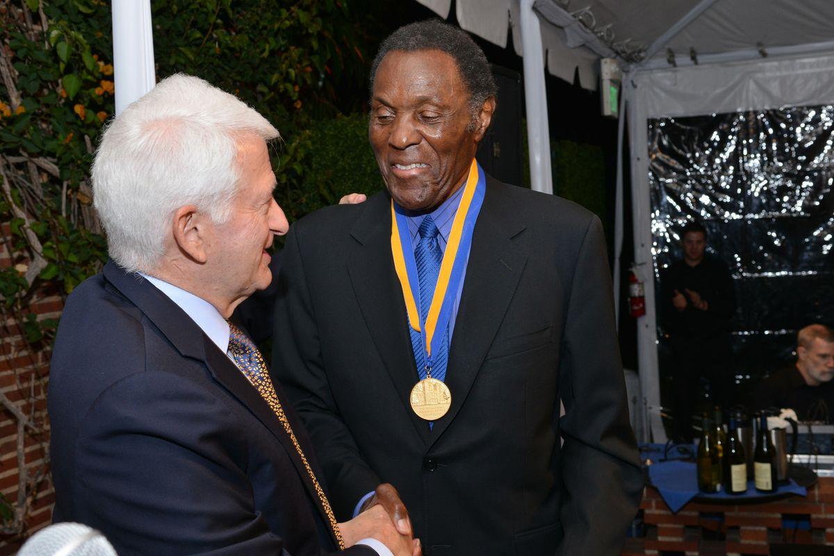 Rafer Johnson and UCLA Chancellor Gene Block