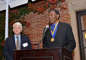 Rafer Johnson accepts UCLA Medal