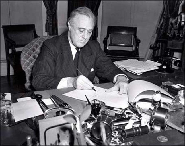 President Franklin D. Roosevelt in 1941