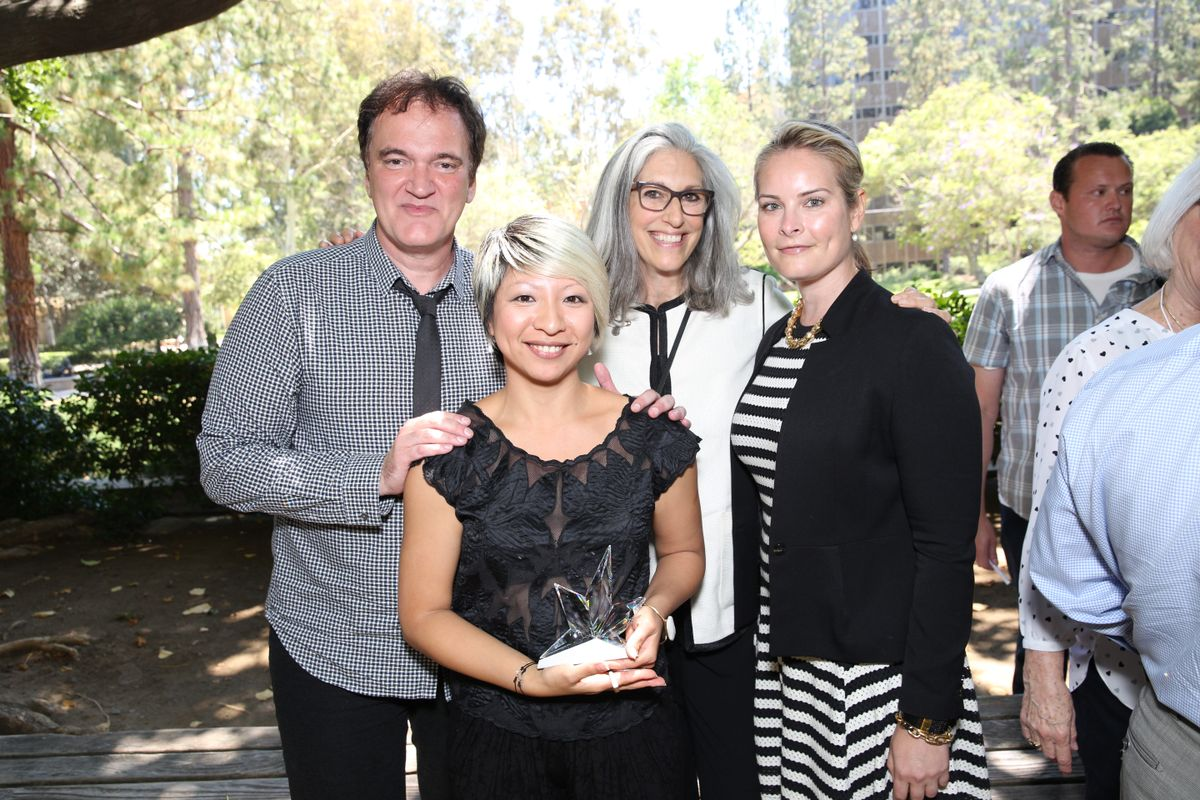 Quentin Tarantino, Kumie Asai, Deborah Landis, Elizabeth Murphy
