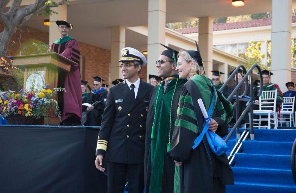 Dr. Vivek Murthy, a medical school graduate and Dr. Kelsey Martin