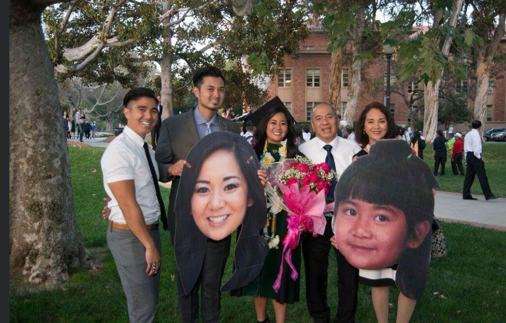 Family of a medical school graduate