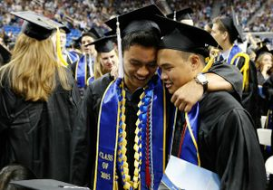 Graduates at the 2015 commencement ceremonies