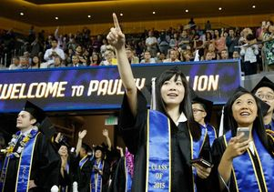 Students at the 2015 UCLA College commencement