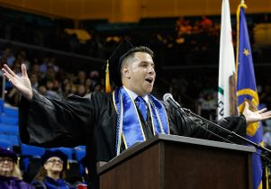 Omer Hit, student speaker at 2016 commencement