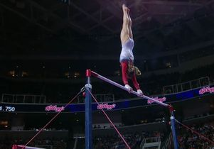 Madison Kocian on the uneven bars