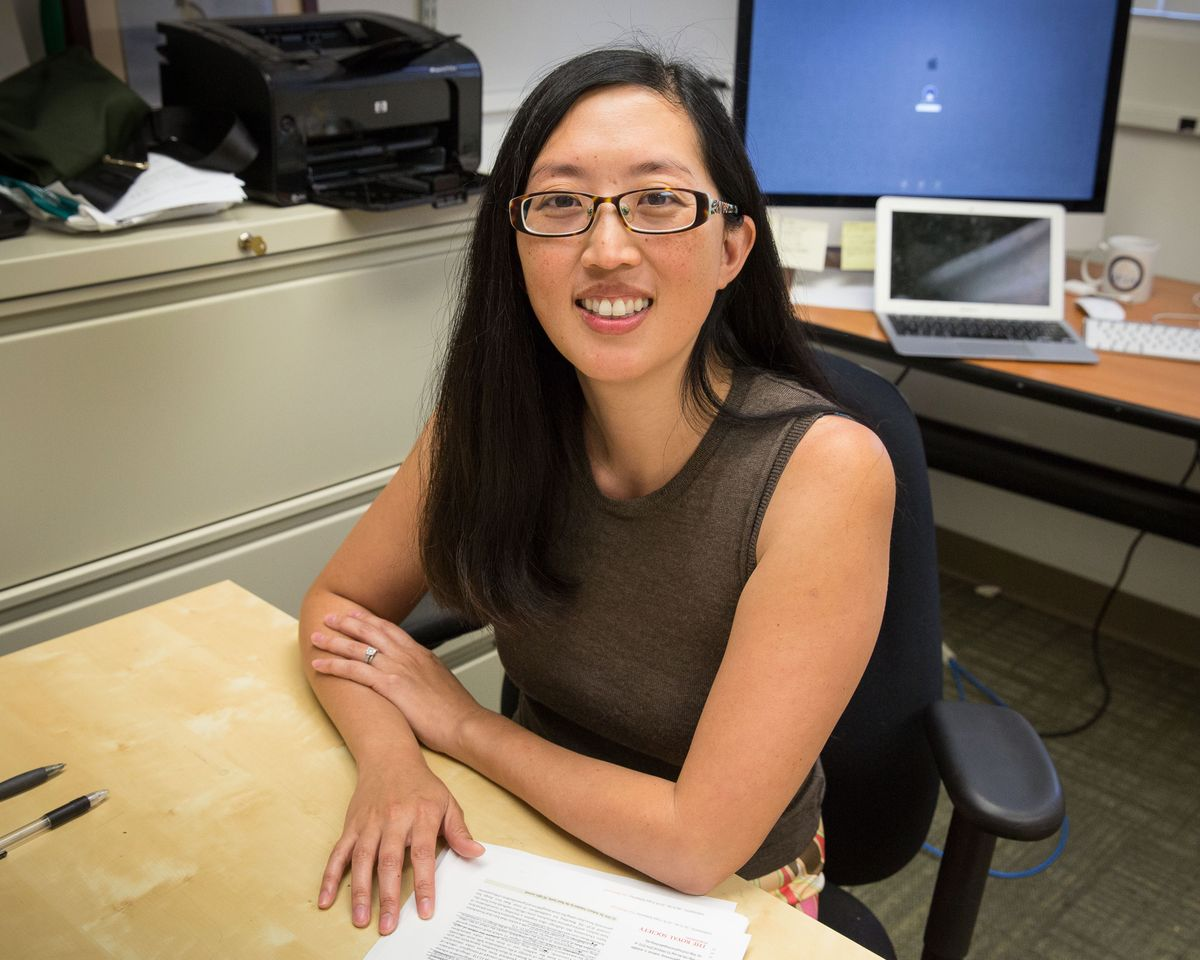 Pamela Yeh in her office