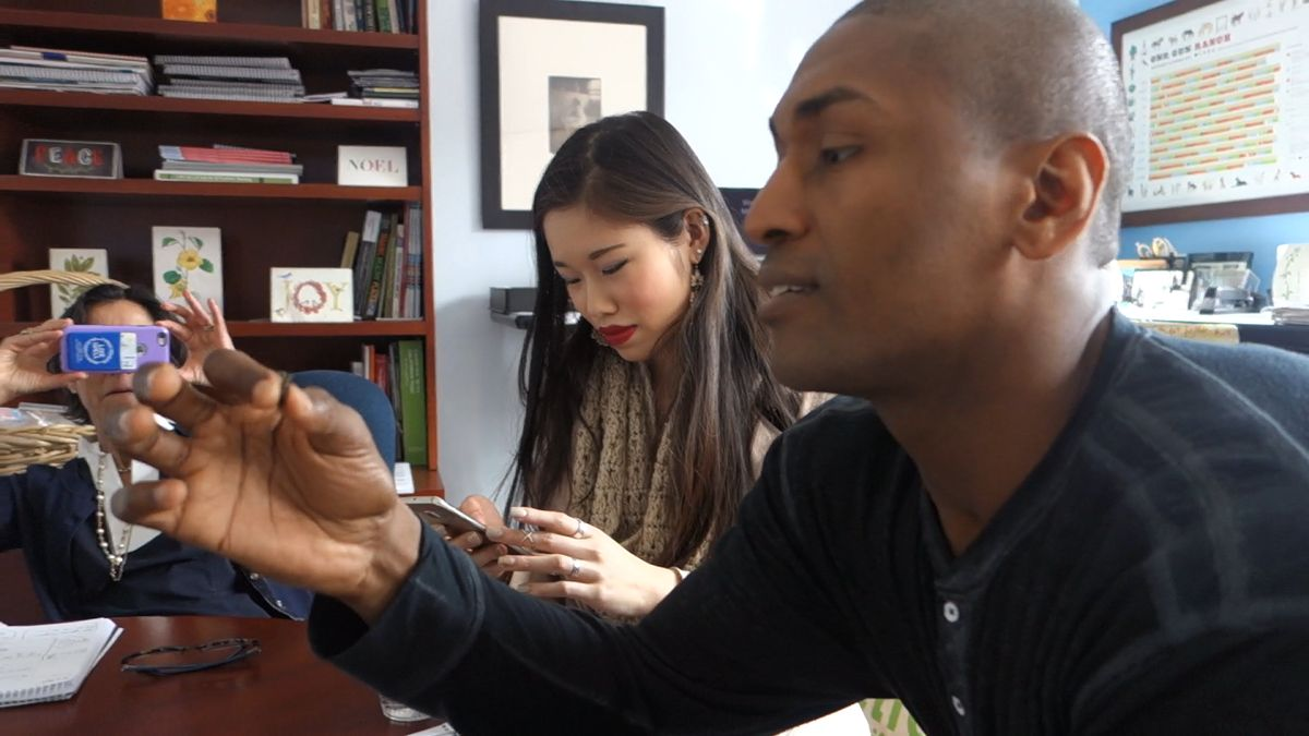 Metta World Peace and UCLA students