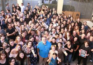 Francis Ford Coppola and UCLA TFT students and cast