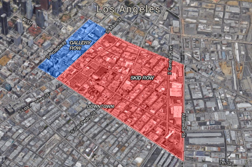 Skid Row vs. Gallery Row: How cultural revitalization is ... Downtown La Map on los angeles map, downtown beverly ma map, downtown ge map, beverly hills parking map, downtown bridgeport ct map, downtown saint augustine map, downtown ga map, downtown city streets night, downtown mn map, downtown street map, downtown sac map, downtown sd map, hollywood map, hope ranch map, glendale map, downtown san francisco map, sofitel miami map, downtown los angeles, downtown canada map, downtown california map,
