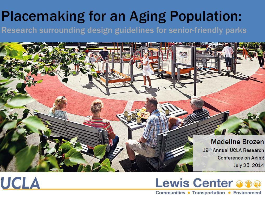 Placemaking for an Aging Population