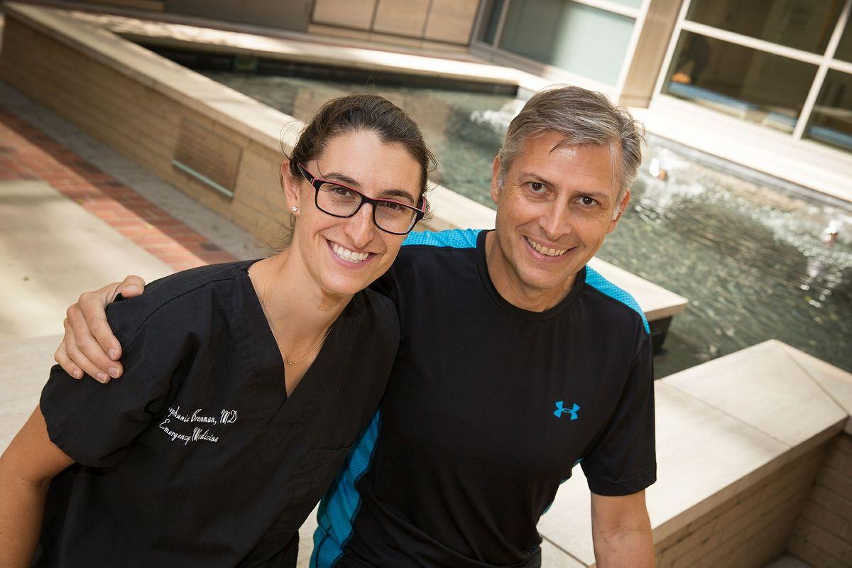 Dr. Stephanie Brenman and Giovanni Valente