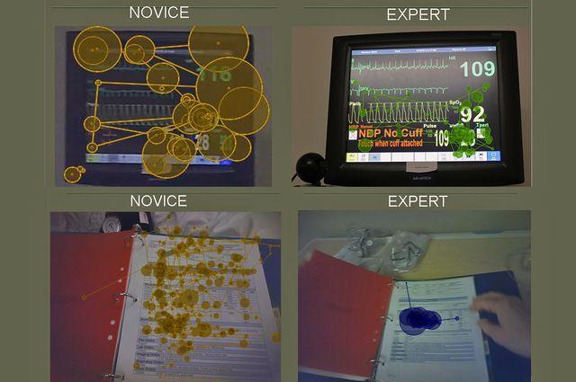 Nurses eye tracking