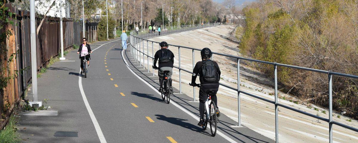 Los Angeles River bikeway