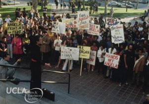 Rally at UCLA in support of Angela Davis