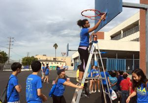 Click to open the large image: Volunteer Day 2016 Hoop
