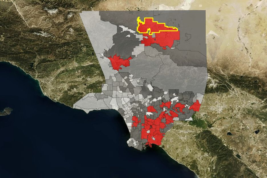 L.A. County Million Dollar Blocks map
