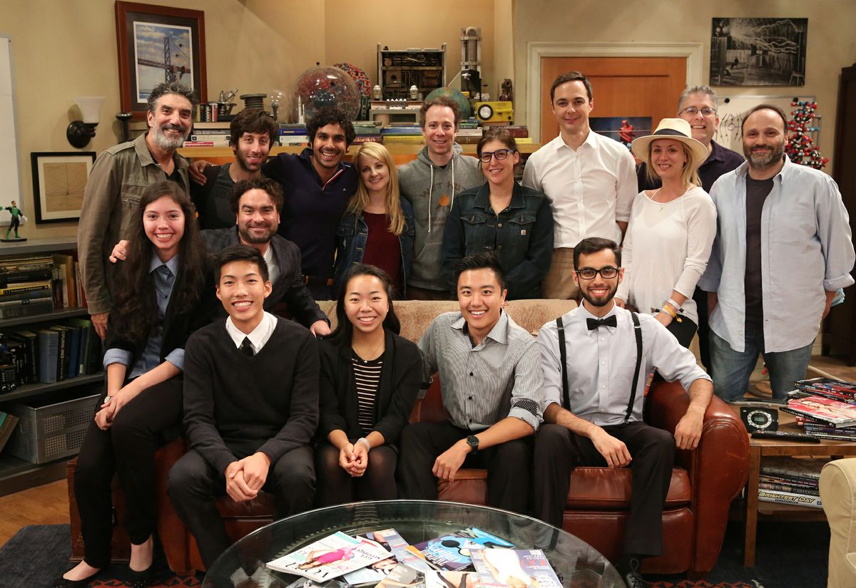 "Big Bang scholarship recipients and cast, producers of ""The Big Bang Theory"""