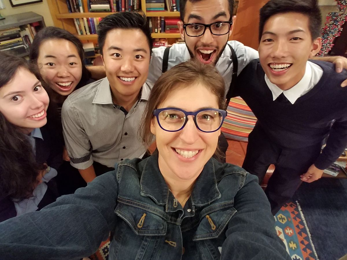 Selfie with Mayim Bialik, by Mayim Bialik