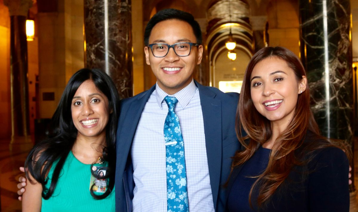 UCLA Luskin students Jayanthi Daniel, JC De Vera and Tammy Barreras