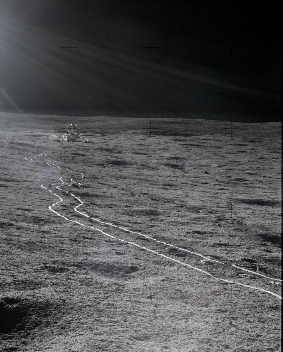 Apollo 14 on the moon
