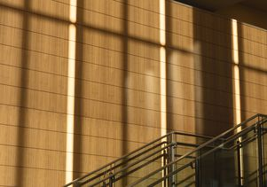 Wood panels Luskin Conference Center