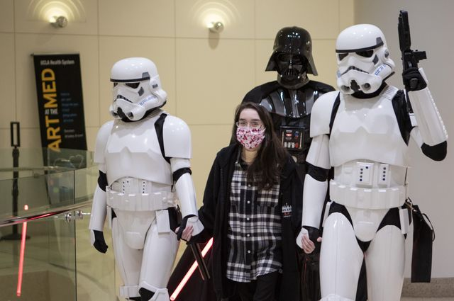 "Kathlyn Chassey and ""Star Wars"" characters"