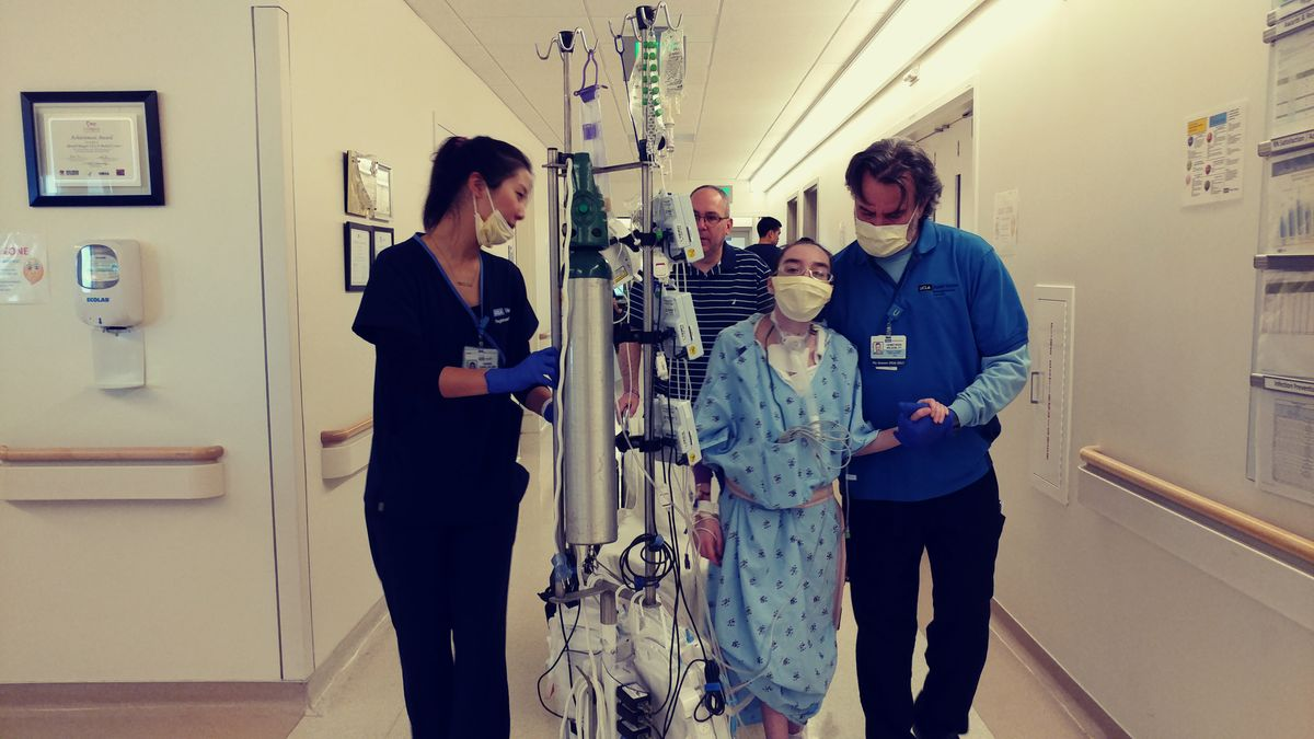 Kathlyn Chassey after her lung transplant surgery