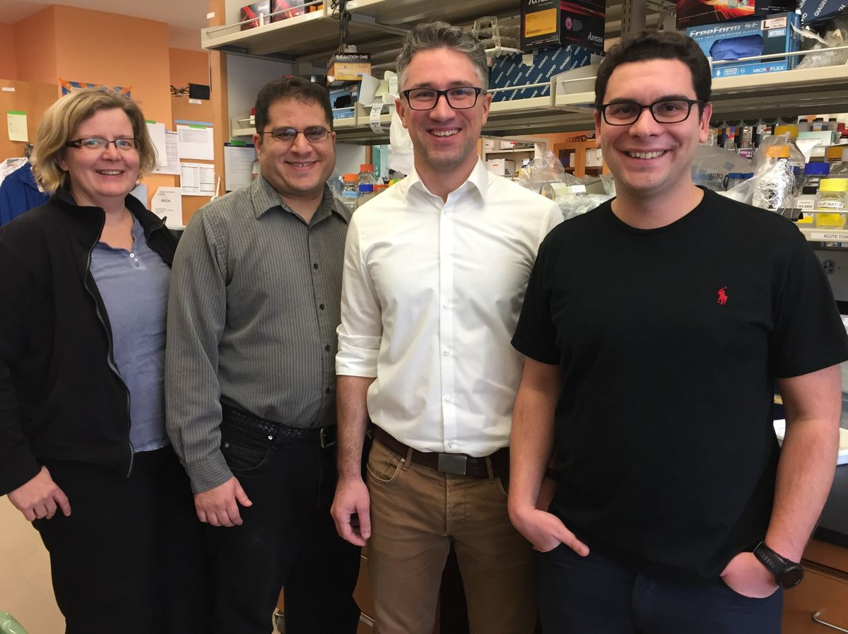 First and senior authors in the lab