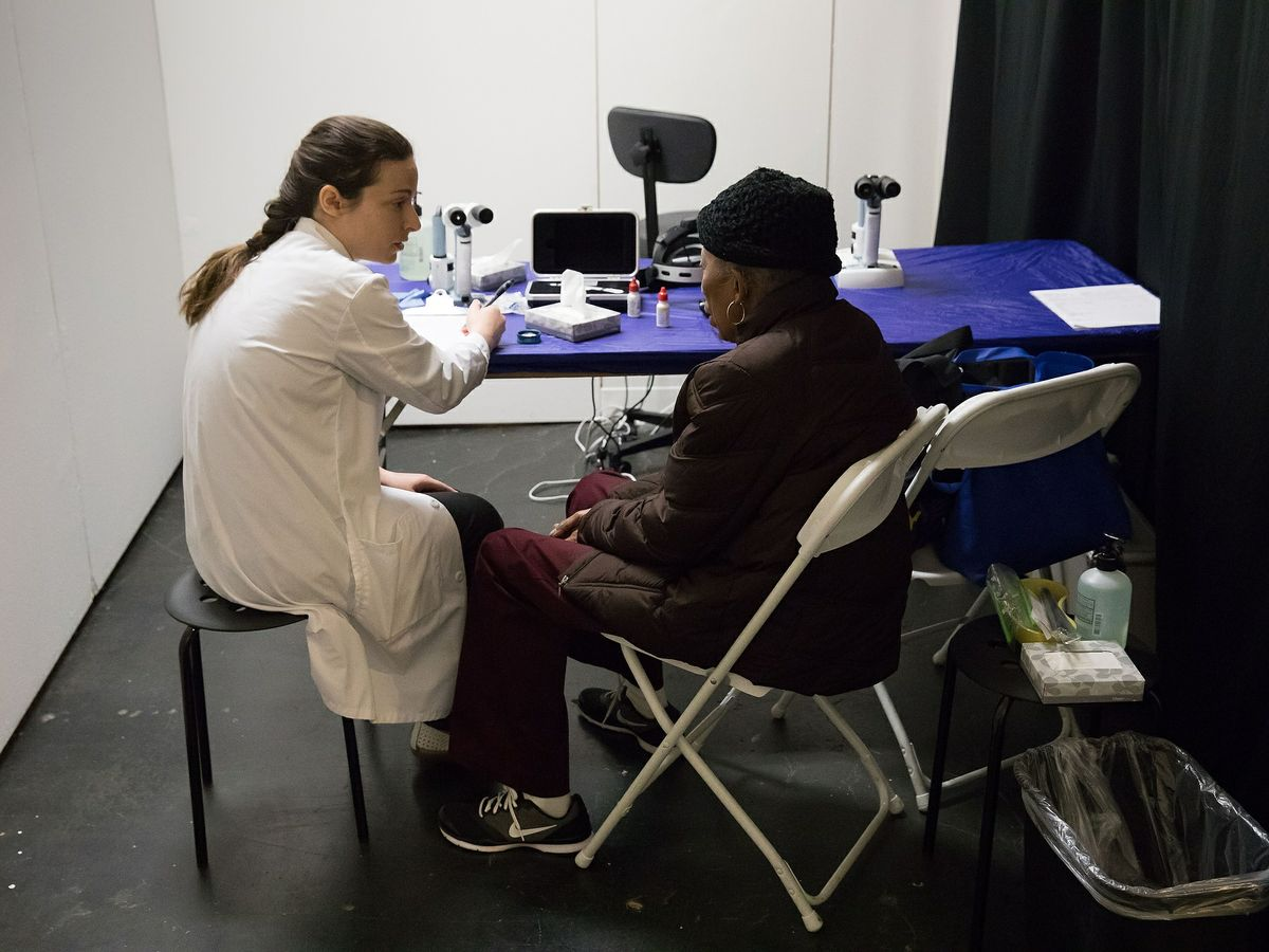 Dr. Laura Ann Vickers and a patient
