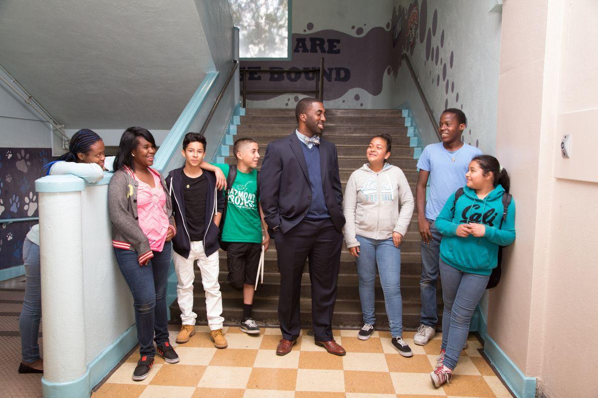 Orlando Johnson and students