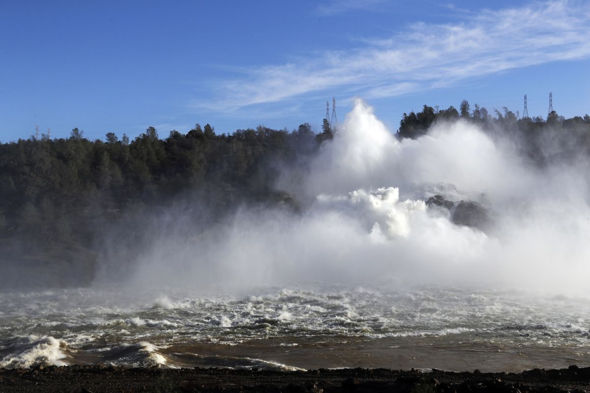 Water at the Oroville Dam