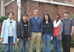 Jaime Marian and some members of his lab