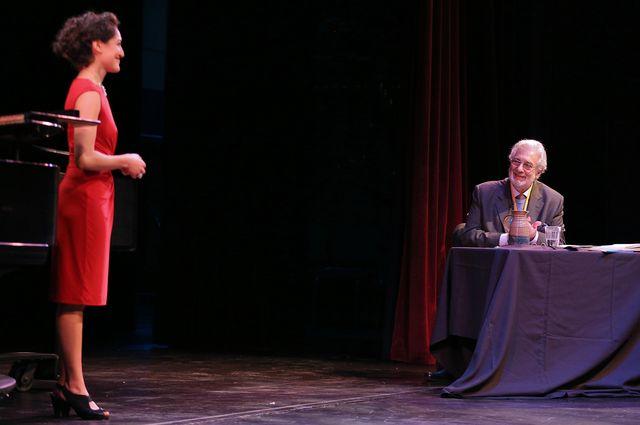 Plácido Domingo and Vanessa Martucci