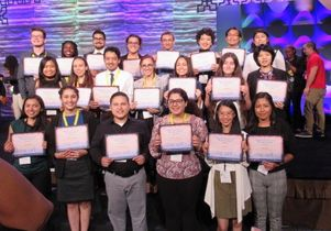 UCLA students at biomedical research conference