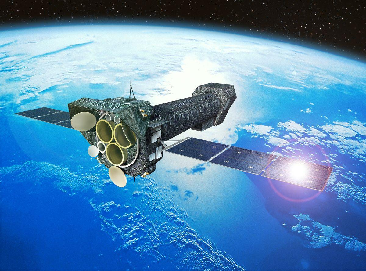 ESA satellite orbiting Earth