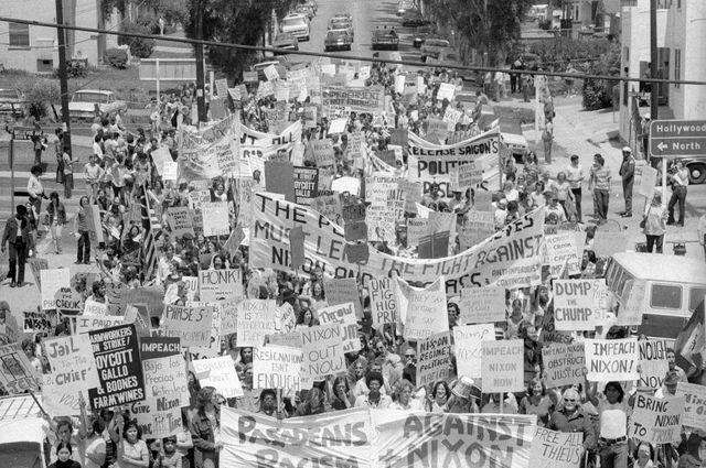Protesting Richard Nixon