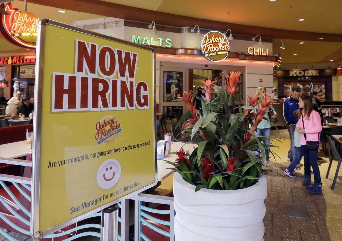 Restaurant hiring sign