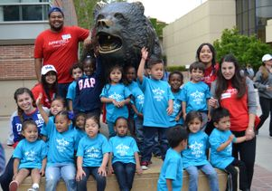 Preschoolers from some of the schools served by Jumpstart UCLA