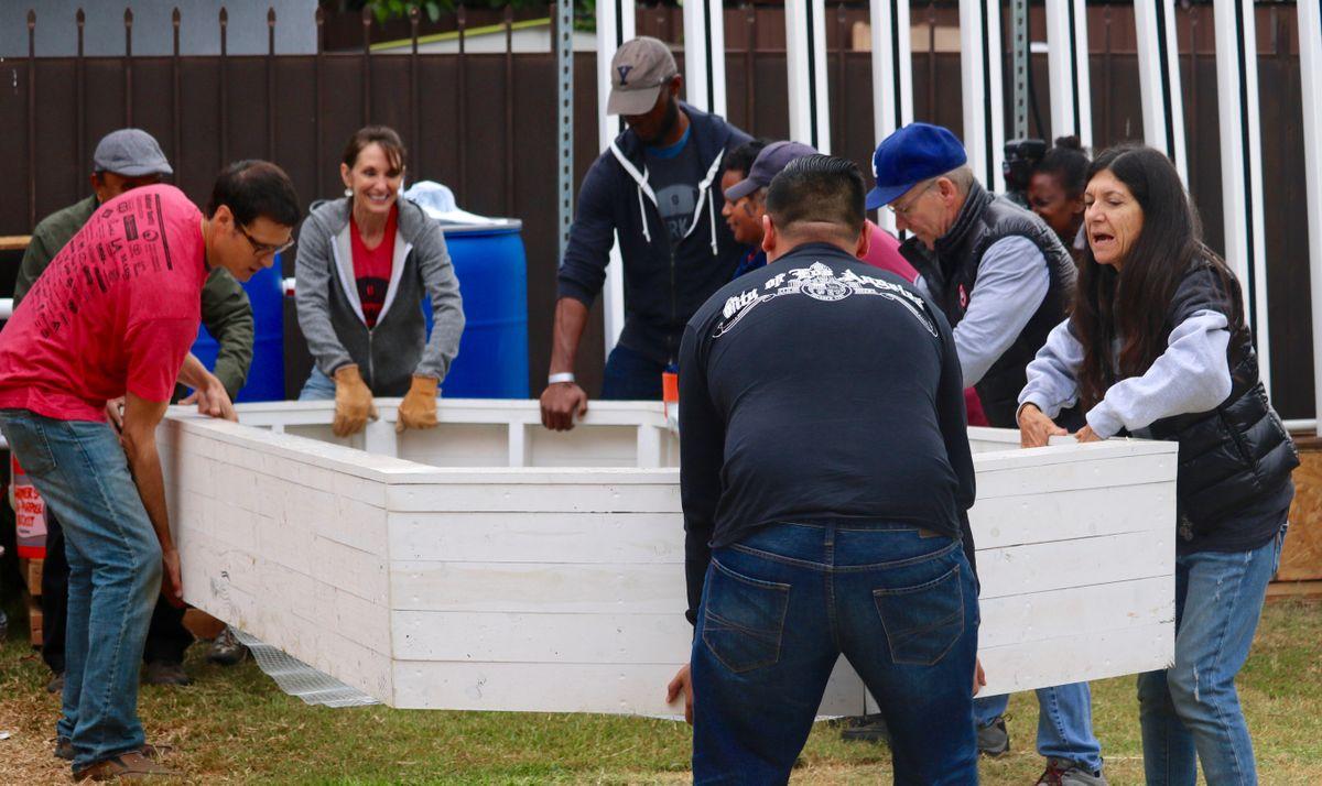 Watts community leaders and volunteers