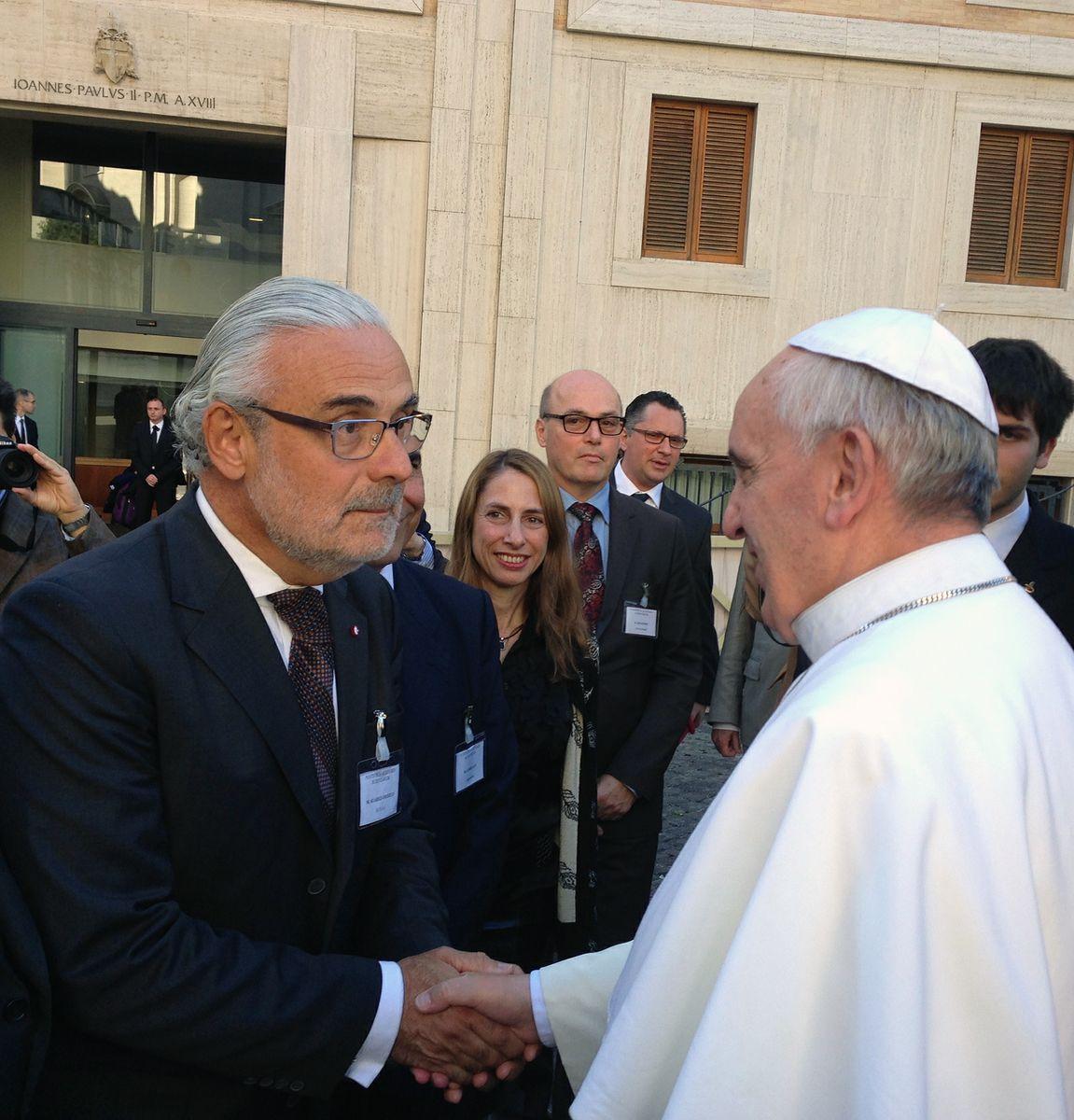 Marcelo Suárez-Orozco and Pope Francis