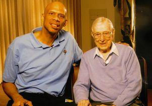 Kareem Abdul-Jabbar and Coach John Wooden