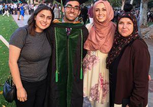 Mostafa Al-Alusi and his family