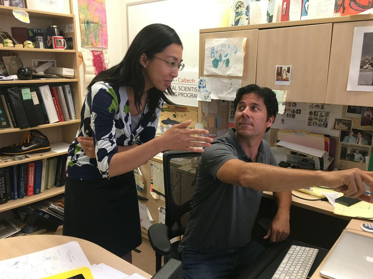 Cynthia He and Dr. Carlos Portera-Cailliau