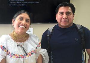 Luz Maria de la Torre and Eduardo de la Cruz