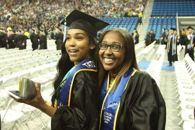 Friends at commencement