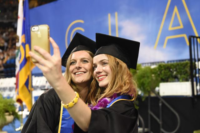 Commencement selfies
