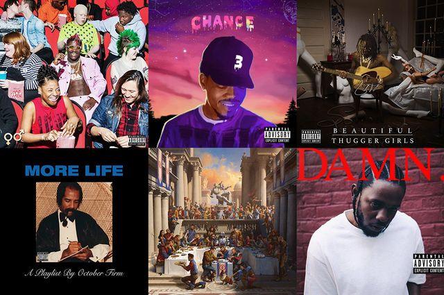 Hip-hop CD collage
